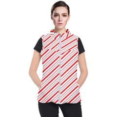 Candy Cane Stripes Women s Puffer Vest