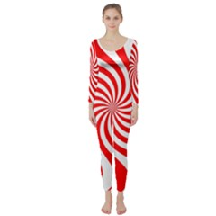 Peppermint Candy Long Sleeve Catsuit
