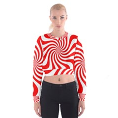 Peppermint Candy Cropped Sweatshirt