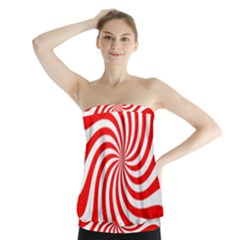 Peppermint Candy Strapless Top