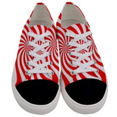 Peppermint Candy Women s Low Top Canvas Sneakers