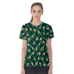 Gingerbread Green Women s Cotton Tee