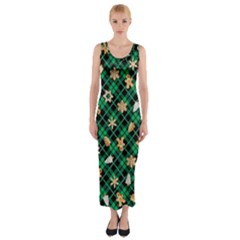 Gingerbread Green Fitted Maxi Dress
