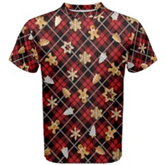 Gingerbread Red Men s Cotton Tee