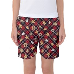 Gingerbread Red Women s Basketball Shorts