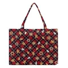 Gingerbread Red Medium Tote Bag