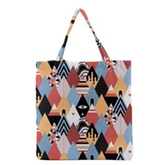 Abstract Diamond Pattern Grocery Tote Bag