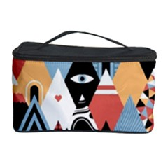 Abstract Diamond Pattern Cosmetic Storage Case