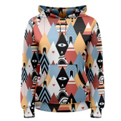 Abstract Diamond Pattern Women s Pullover Hoodie