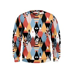 Abstract Diamond Pattern Kids  Sweatshirt