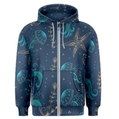 Arabesque Vintage Graphic Nature Men s Zipper Hoodie