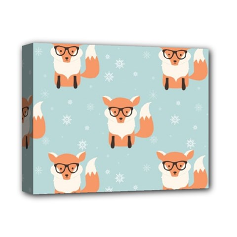 Cute Fox Pattern Deluxe Canvas 14  X 11