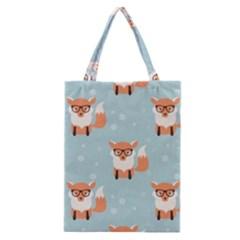 Cute Fox Pattern Classic Tote Bag
