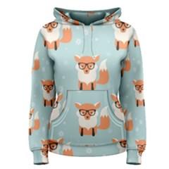 Cute Fox Pattern Women s Pullover Hoodie