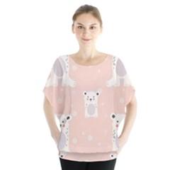 Cute Polar Bear Pattern Blouse