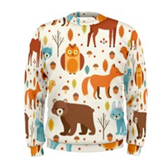 Woodland Friends Pattern Men s Sweatshirt