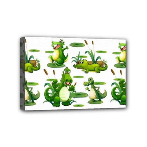 Crocodiles In The Pond Mini Canvas 6  X 4