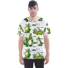 Crocodiles In The Pond Men s Sports Mesh Tee