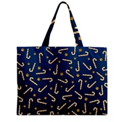 Golden Candycane Blue Mini Tote Bag