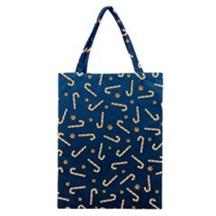 Golden Candycane Blue Classic Tote Bag