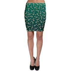 Golden Candycane Green Bodycon Skirt