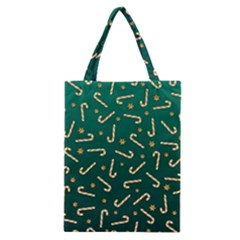 Golden Candycane Green Classic Tote Bag