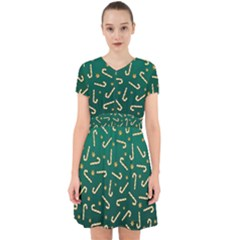 Golden Candycane Green Adorable In Chiffon Dress