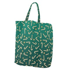 Golden Candycane Green Giant Grocery Zipper Tote