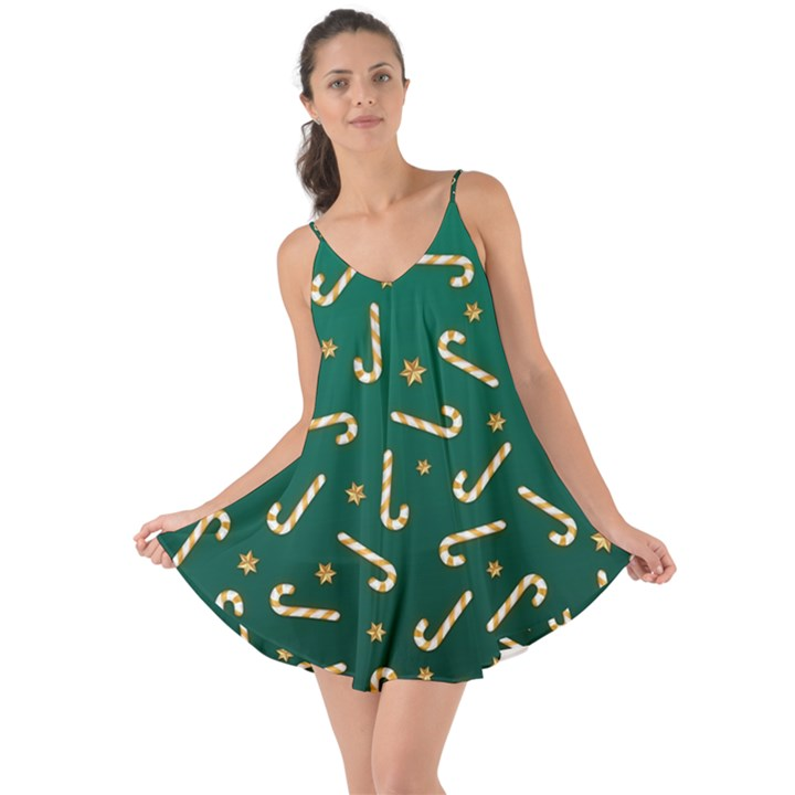 Golden Candycane Green Love the Sun Cover Up