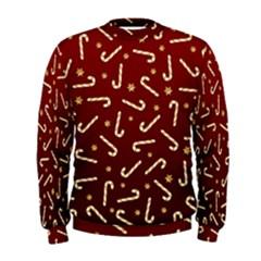 Golden Candycane Red Men s Sweatshirt