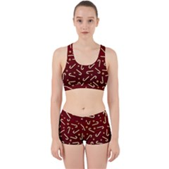 Golden Candycane Red Work It Out Sports Bra Set