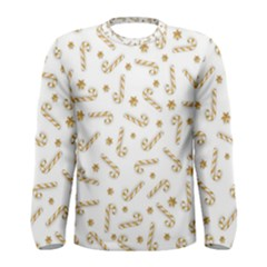 Golden Candycane Light Men s Long Sleeve Tee