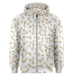 Golden Candycane Light Men s Zipper Hoodie