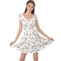 Golden Candycane Light Cap Sleeve Dress