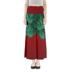 Xmas Tree Full Length Maxi Skirt