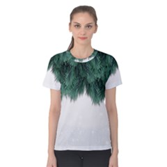 Snow And Tree Women s Cotton Tee