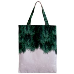 Snow And Tree Zipper Classic Tote Bag