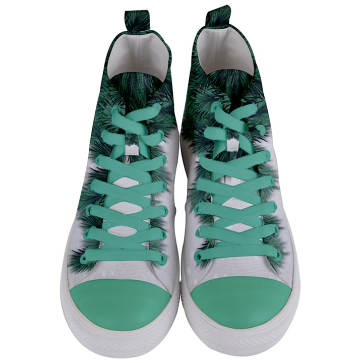 Snow And Tree Women s Mid-Top Canvas Sneakers