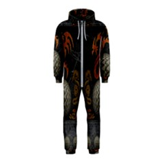 Awesome Tribal Dragon Made Of Metal Hooded Jumpsuit (kids)