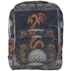 Awesome Tribal Dragon Made Of Metal Full Print Backpack