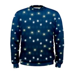 Christmas Light Blue Men s Sweatshirt
