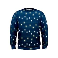 Christmas Light Blue Kids  Sweatshirt