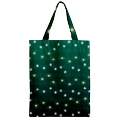 Christmas Light Green Zipper Classic Tote Bag