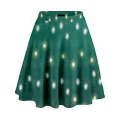 Christmas Light Green High Waist Skirt