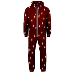Christmas Light Red Hooded Jumpsuit (men)