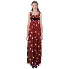 Christmas Light Red Empire Waist Maxi Dress