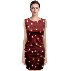 Christmas Light Red Classic Sleeveless Midi Dress