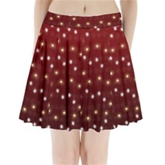 Christmas Light Red Pleated Mini Skirt