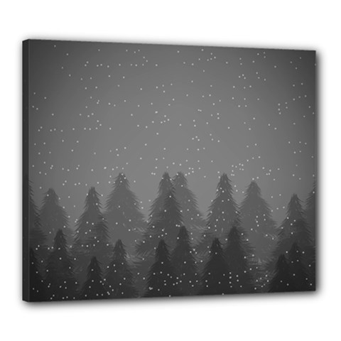 Winter Land Dark Canvas 24  X 20