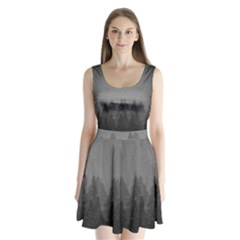 Winter Land Dark Split Back Mini Dress